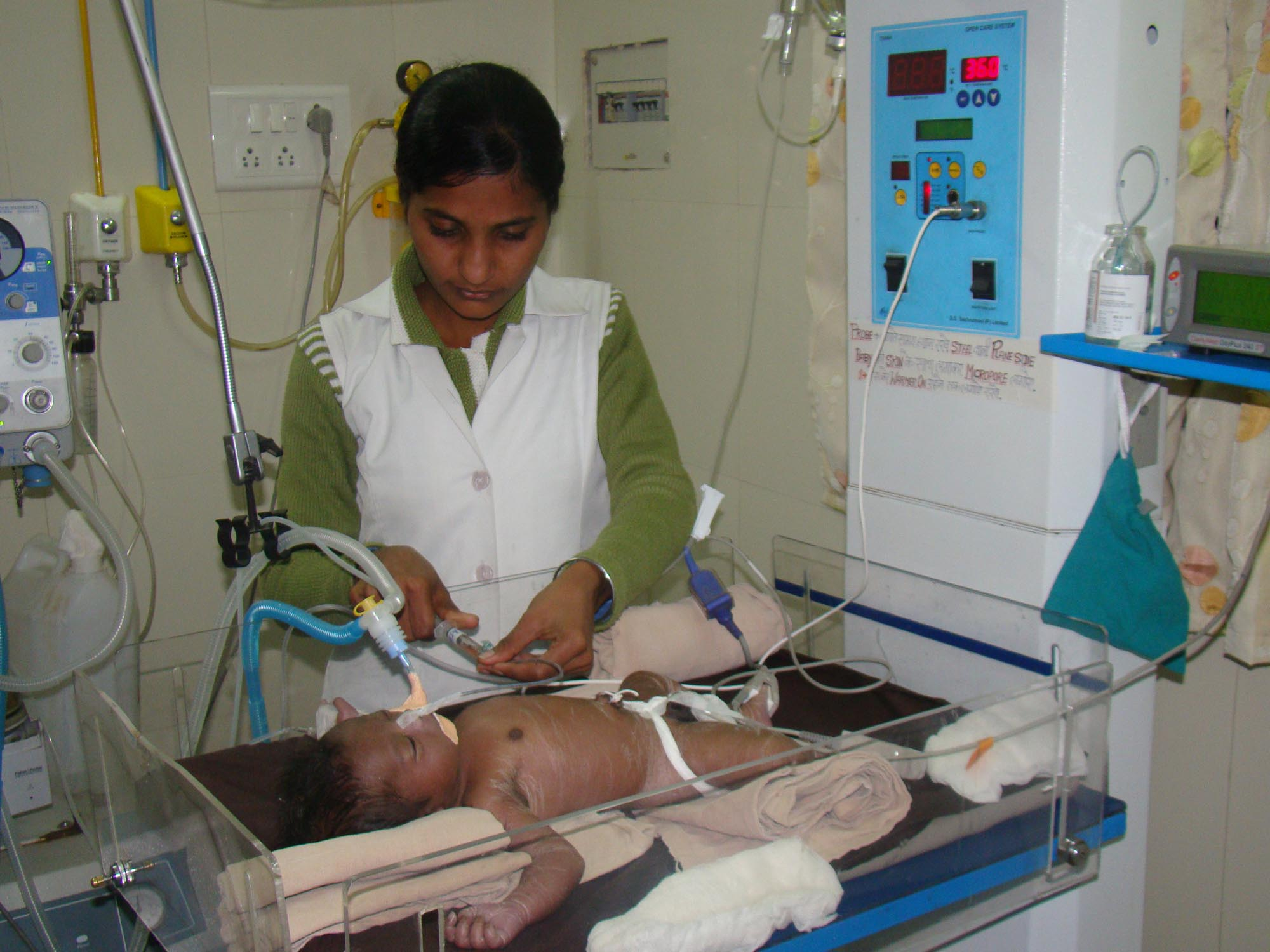 Infant in ICU